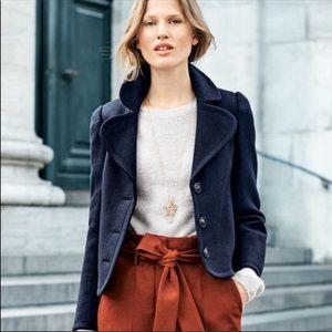 Boden Horsell navy blue wool coat jacket Sz 6 NWT